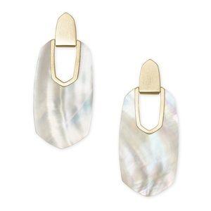 Kendra Scott Kailyn Earrings Gold Mother of Pearl